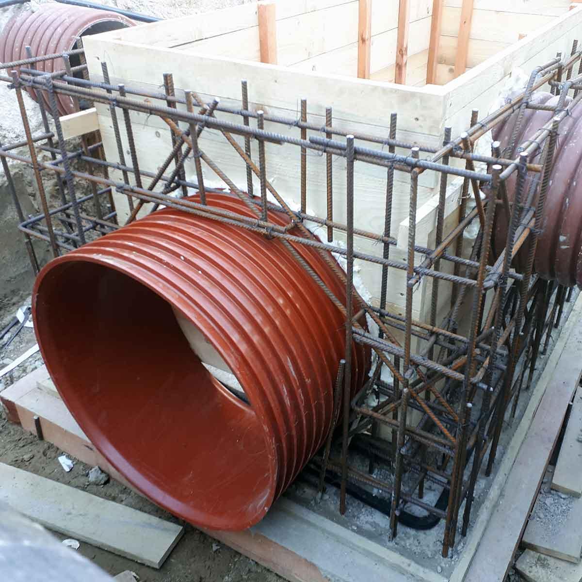 Salovanie kontrolnej kanalizacnej sachty